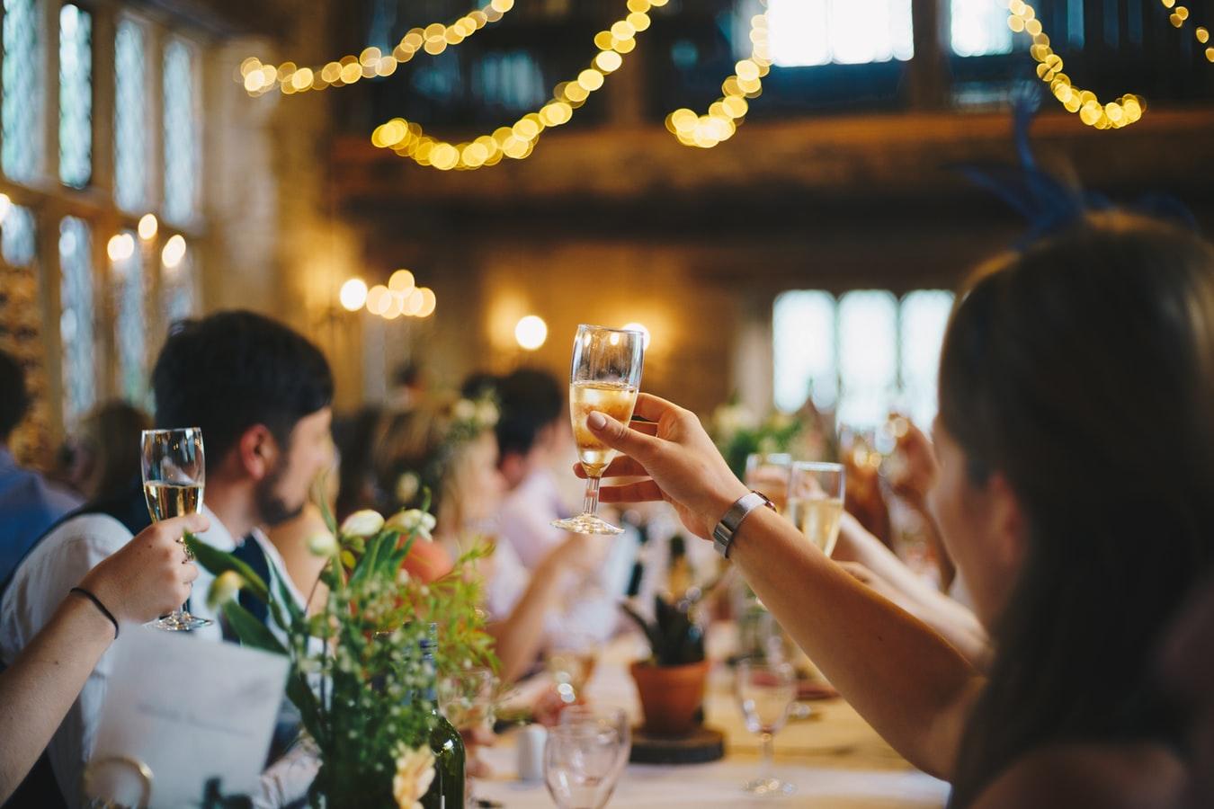 Champagne cena di gala