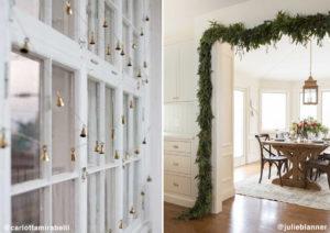Decorazione porte e finestre Natale
