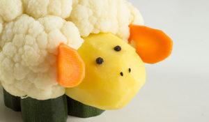 Agnellino di verdura per bambini