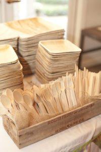 Posate di legno eventi